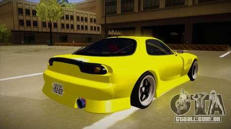 Mazda FD3S BN Sports para GTA San Andreas vista direita