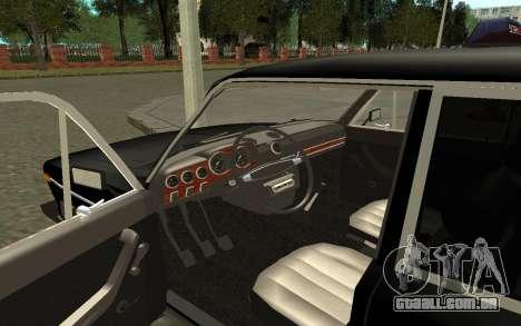 Táxi de 2106 VAZ para GTA San Andreas vista traseira