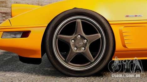 Chevrolet Corvette C4 1996 v1 para GTA 4 vista de volta