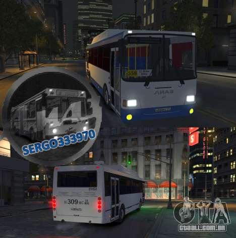 LIAZ 2013 5256.57-01 para GTA 4 vista lateral