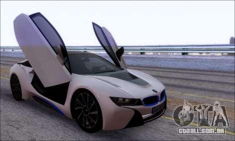 BMW I8 para GTA San Andreas vista interior