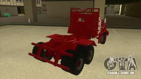Hayes caminhão H188 para GTA San Andreas traseira esquerda vista