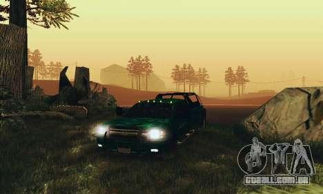 Chevrolet Silverado 3500 Military para GTA San Andreas vista traseira