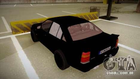 Lotus Carlton para GTA San Andreas vista traseira