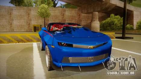 Chevrolet Camaro ZL1 Elite para GTA San Andreas esquerda vista