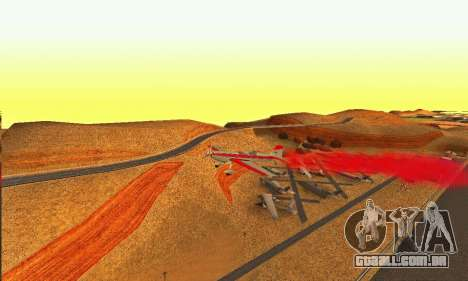 Stunt GTA V para GTA San Andreas vista traseira