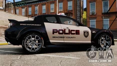 Mazda RX-8 R3 2011 Police para GTA 4 esquerda vista
