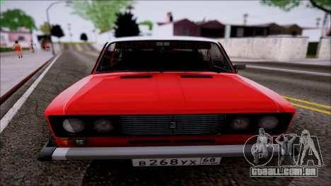 VAZ 2106 Retro para GTA San Andreas esquerda vista