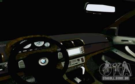 BMW X5 para GTA San Andreas vista superior