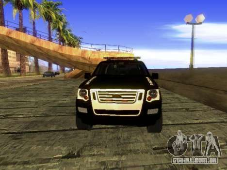 Ford Explorer 2010 Police Interceptor para GTA San Andreas esquerda vista