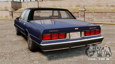 Chevrolet Caprice Brougham 1986 para GTA 4 traseira esquerda vista