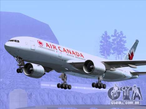 Boeing 777-200ER Air Canada para as rodas de GTA San Andreas