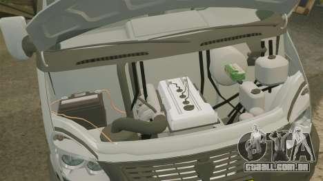 Negócio de gaz-3302 para GTA 4 vista interior