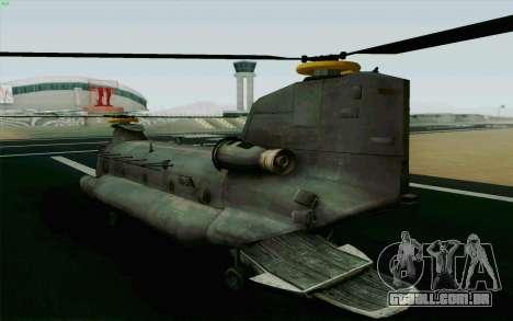 MH-47 para GTA San Andreas esquerda vista