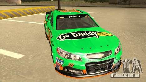 Chevrolet SS NASCAR No. 10 Go Daddy para GTA San Andreas esquerda vista