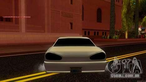 Elegy Estoq para GTA San Andreas traseira esquerda vista