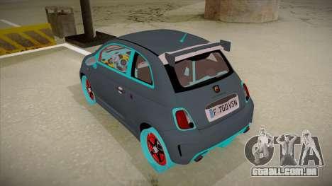Abarth 500 Esseesse 2010 para GTA San Andreas vista traseira