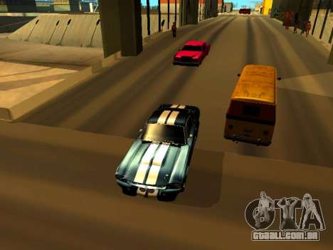 Ford Shelby GT-500E Eleanor para GTA San Andreas vista traseira