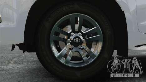 Toyota Land Cruiser Prado 150 para GTA 4 vista de volta