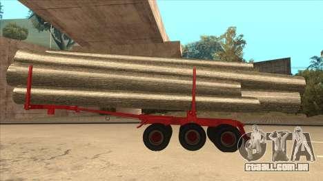 2-nd-madeira transportadora para Hayes H188 para GTA San Andreas esquerda vista