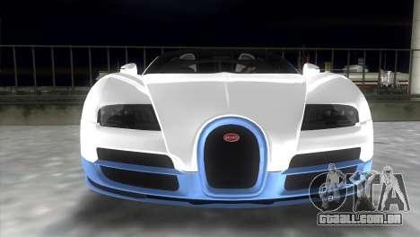 Bugatti Veyron Grand Sport Vitesse para GTA Vice City vista traseira