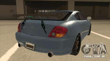 Hyundai Coupe V6 Soft Tuned v1 para GTA San Andreas vista direita
