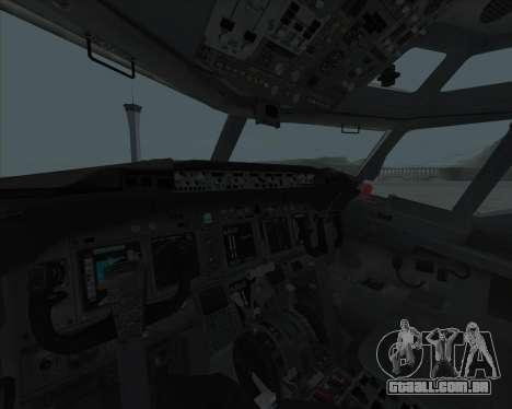 Boeing 737-800 para GTA San Andreas vista traseira