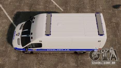 Mercedes-Benz Sprinter Croatian Police v2 [ELS] para GTA 4 vista direita