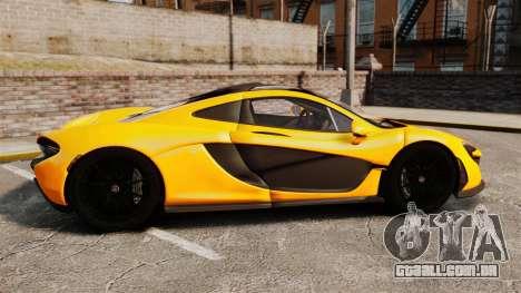 McLaren P1 2013 para GTA 4 esquerda vista
