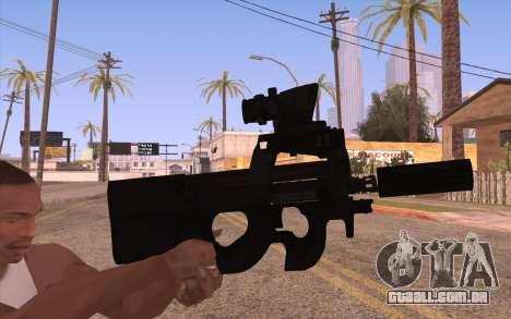 AEG P90 com lanterna para GTA San Andreas