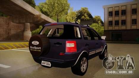 Ford Ecosport FreeStyle 2007 para GTA San Andreas vista direita