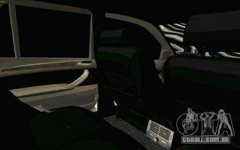 BMW X5 para GTA San Andreas vista inferior