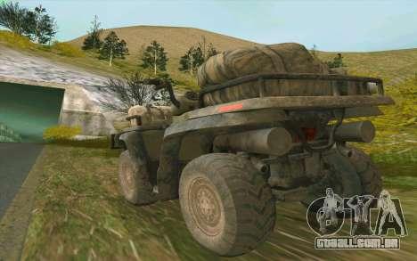 ATV da medalha de honra para GTA San Andreas vista direita