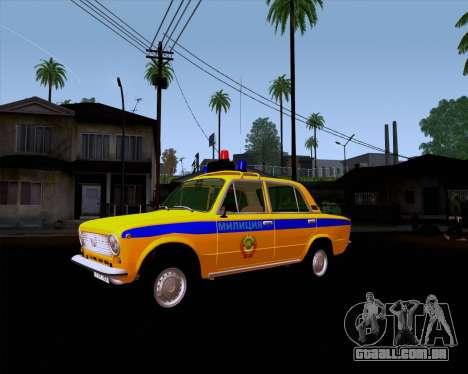 VAZ 21011 polícia para GTA San Andreas vista traseira
