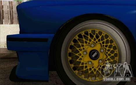 BMW M3 E30 Stance para GTA San Andreas vista interior