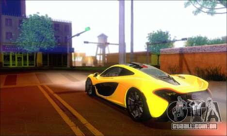 McLaren P1 EPM para GTA San Andreas vista traseira