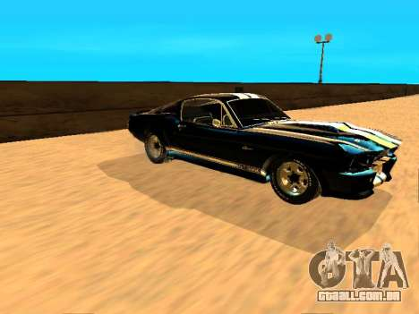 Ford Shelby GT-500E Eleanor para GTA San Andreas traseira esquerda vista