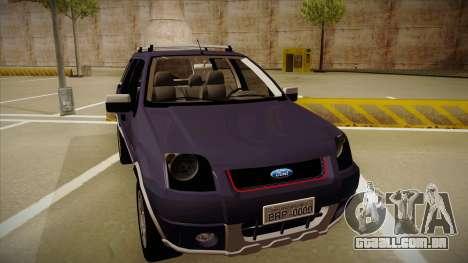 Ford Ecosport FreeStyle 2007 para GTA San Andreas esquerda vista
