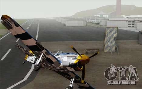 Idealmente em camuflagem de inverno para GTA San Andreas vista direita