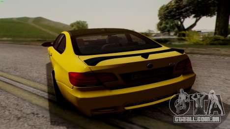 BMW M3 E92 Hamann para GTA San Andreas vista direita