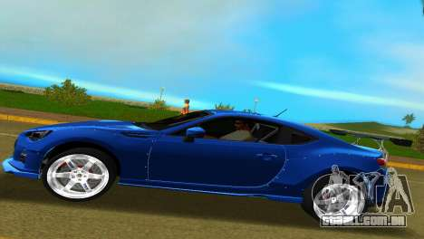 Subaru BRZ Type 5 para GTA Vice City vista traseira