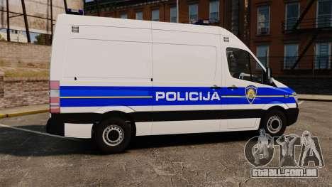Mercedes-Benz Sprinter Croatian Police v2 [ELS] para GTA 4 esquerda vista