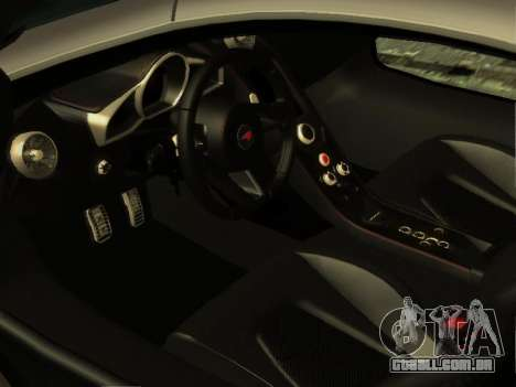 McLaren MP4-12C WheelsAndMore para GTA San Andreas vista superior