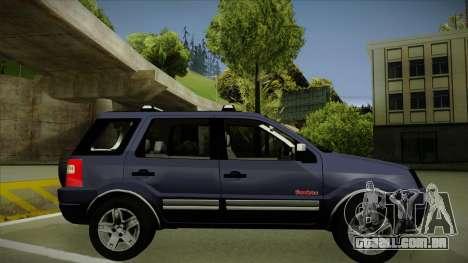 Ford Ecosport FreeStyle 2007 para GTA San Andreas traseira esquerda vista