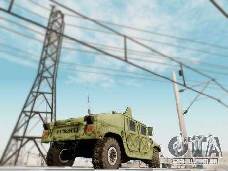 Humvee Serbian Army para GTA San Andreas esquerda vista