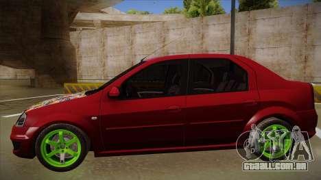 Dacia Logan Hellaflush para GTA San Andreas traseira esquerda vista