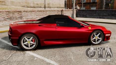 Ferrari 360 Spider 2000 [EPM] para GTA 4 esquerda vista
