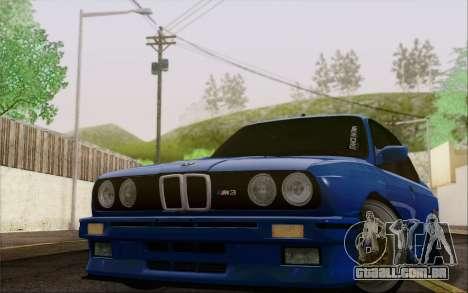 BMW M3 E30 Stance para GTA San Andreas traseira esquerda vista