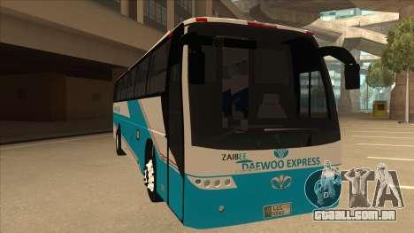 Zaibee Daewoo Express Coach para GTA San Andreas esquerda vista