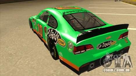 Chevrolet SS NASCAR No. 10 Go Daddy para GTA San Andreas vista traseira